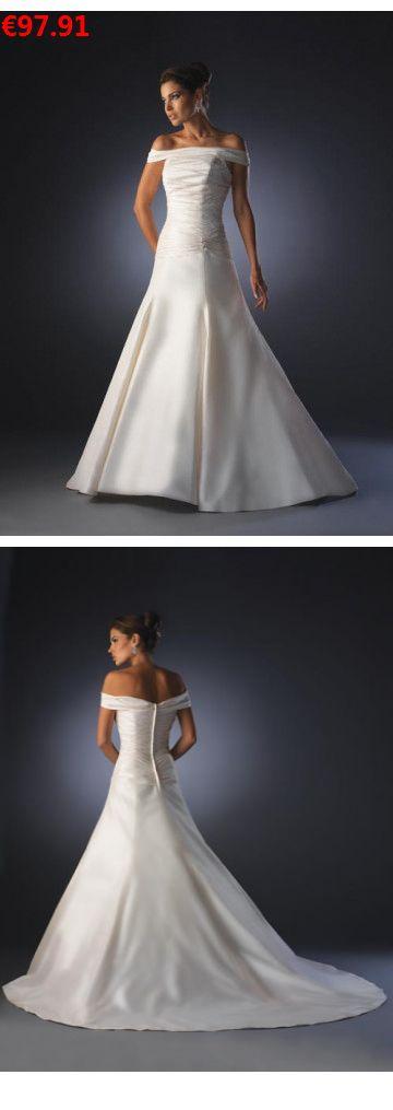 A-Linie aus Satin Carmen-Ausschnitt Ärmellos mit Kapelle-Schleppe Reißverschluss Weiß Hochzeitskleider günstig: : :    Specifications;:    ÄRMELLÄNGE: Ärmellos; AUSSCHNITT: Carmen-AUSSCHNITT; RÜCKEN: Reißverschluss;  SAUMLÄNGE / SCHLEPPE: Kapelle-Schleppe; SILHOUETTE: A-Linie; STOFF: Satin; VERZIERUNG: Rüschen