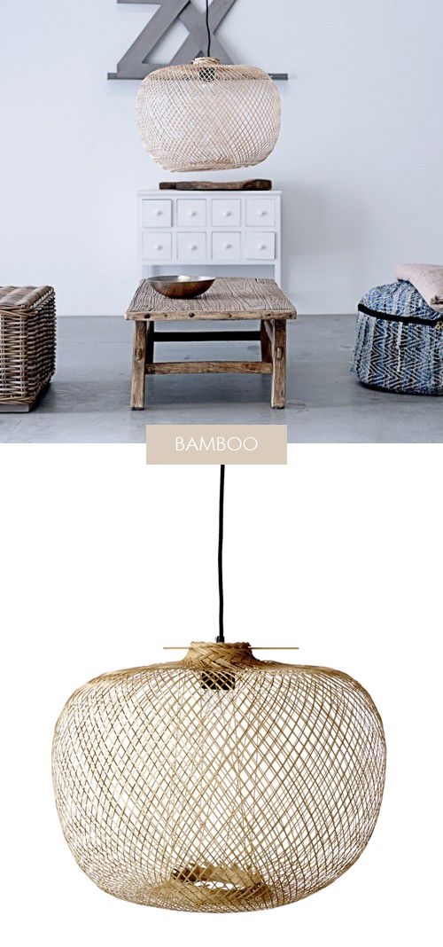 306 best l mparas mimbre wicker lamps images on - Lampara ikea mimbre ...