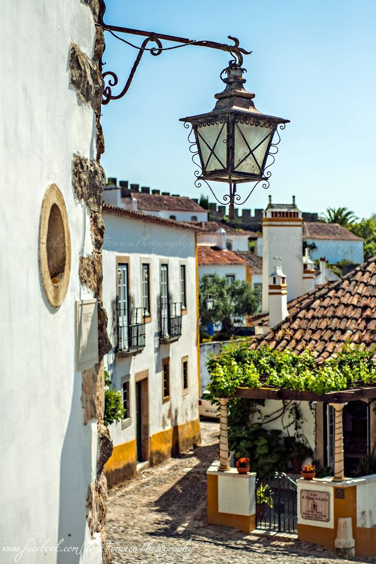 Óbidos walled small town with its traditional houses and paths - Portugal