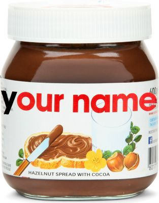 who doesn't want their own nutella jar with their name on haha
