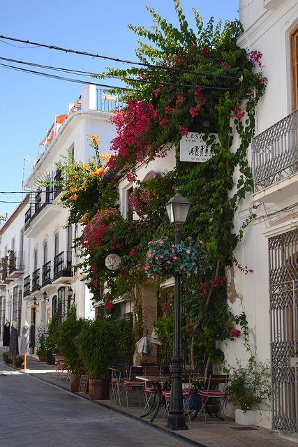 Street in Marbella Old Town, Spain