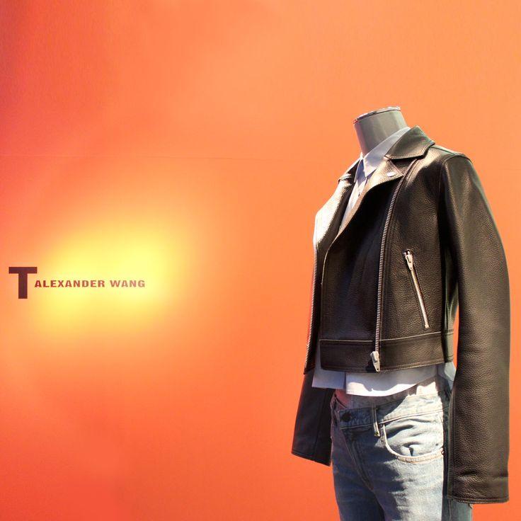 The rigid leather jacket by @AlexanderWang, inspired by the classic worn by Marlon Brando in The Wild One. A rebellious twist, like a model off the catwalks. #arropame #conceptstore #bilbao #ss2016 #AlexanderWang #fashion #shopping #moda #trendy #style http://arropame.com/la-capsula-rebelde-de-alexander-wang/