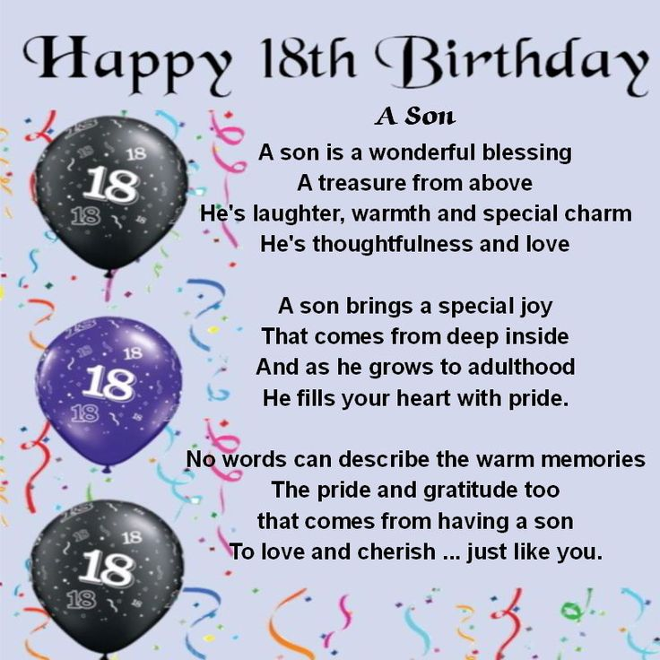 Best 25 Happy birthday young man ideas – Verses for 18th Birthday Cards