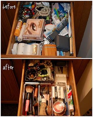bathroom drawer organization! $4.00 from IKEA!