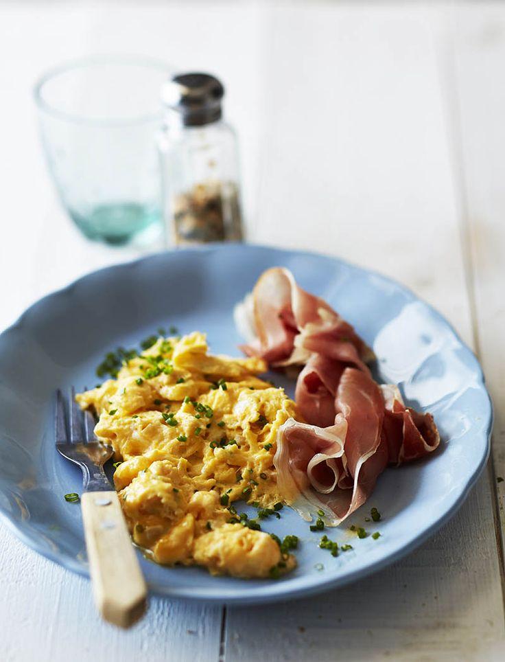 Horseradish scrambled eggs with parma ham | LoseitLoseit | The LCHF / banting way
