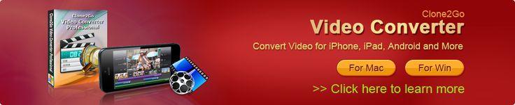 Clone2Go - Video Converter Free  [ includes feature to download and convert videos from YouTube as MP4, HD MP4, FLV, 3GP, AVI, MPG files ]