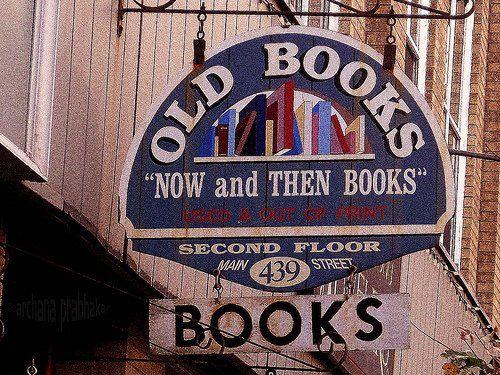old book shop sign