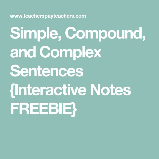 Simple, Compound, and Complex Sentences {Interactive Notes FREEBIE}