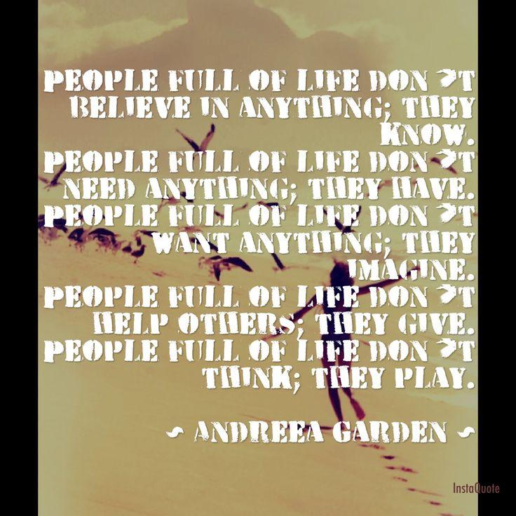 People Full of Life manifesto