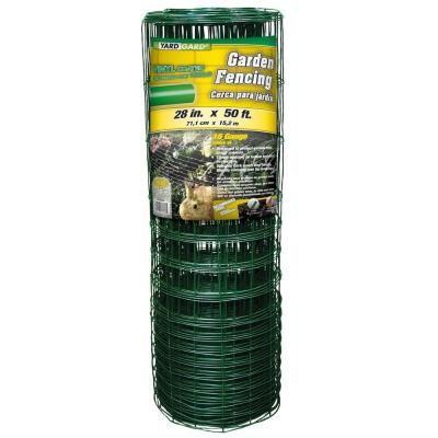 YARDGARD 28 in. x 50 ft. PVC-Coated Rabbit Guard Garden Fence-308376B - The Home Depot