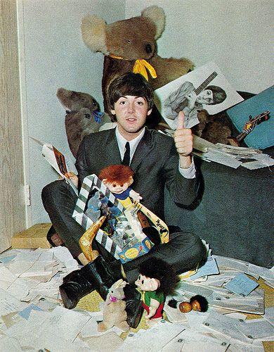 Paul McCartney and troll dolls