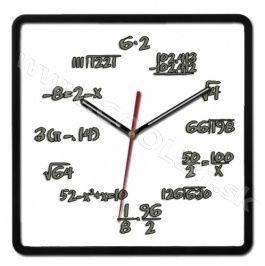 Nástenné hodiny matematické hero