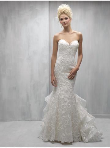 Vlečka na zem Organza Nášivky Svatební šaty 2017