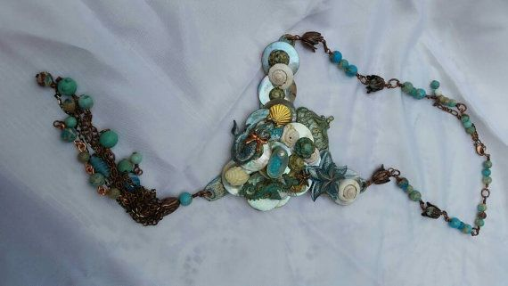Check out this item in my Etsy shop https://www.etsy.com/au/listing/290186841/queens-of-the-sea-statement-collar