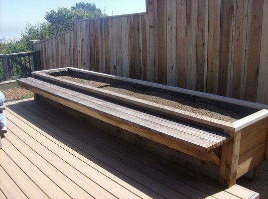 Bench Planter In 2019 Diy Garden Decor Building Planter