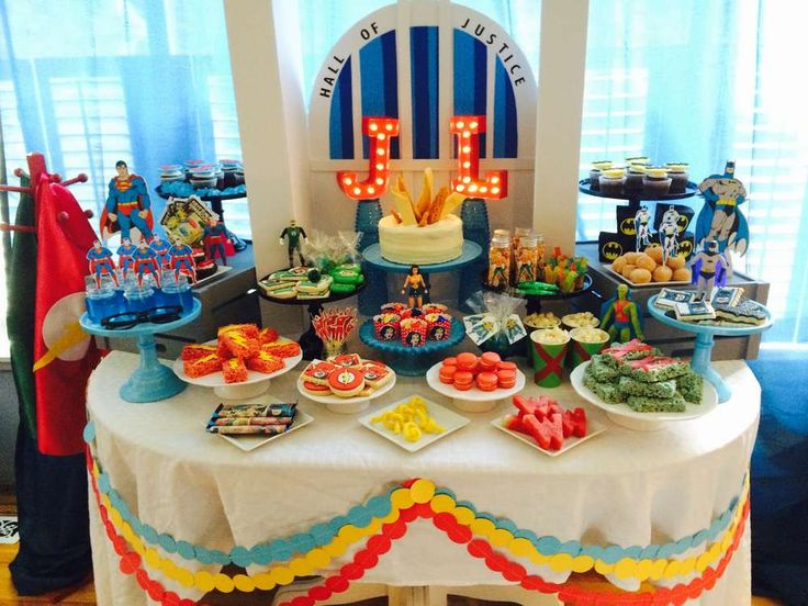 Incredible superhero birthday party! See more party planning ideas at CatchMyParty.com!