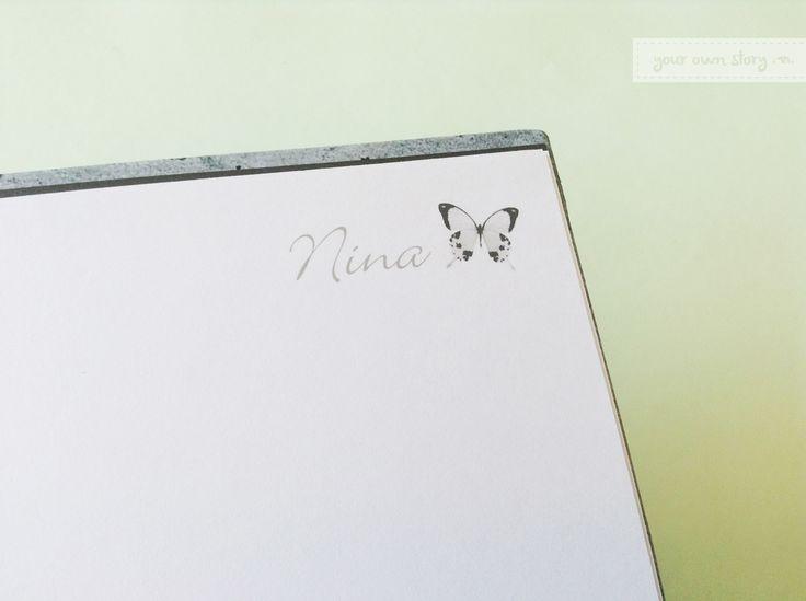 Detalle de las páginas para firmar del Libro de Firmas para el cumpleaños de 15 de Nina.  Conseguí el tuyo en http://yourownstory.tiendanube.com/