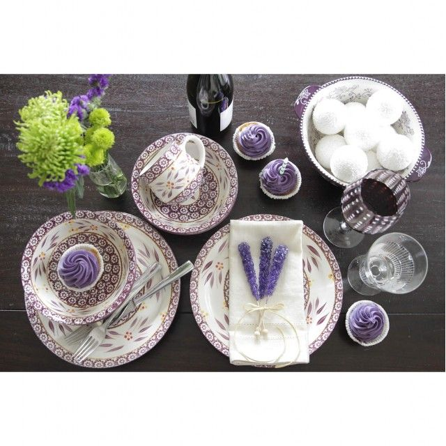 temp-tations® Old World Dinnerware Set of Two 10 Dinner Plates in Eggplant  temp-tations® by Tara  sc 1 st  Pinterest & 7 best Temptations Dishes and Baking images on Pinterest | Floral ...