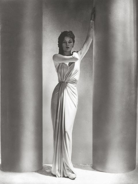 Available for sale from Robert Klein Gallery, Horst P. Horst, Alix Dress / LUD (1938), Gelatin silver print, 14 × 11 in