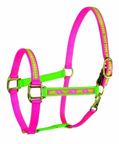Perri's Color Duo Ribbon Nylon Halter by Perri's. $13.59. Snap at throat. Cute Charm comes with each halter. Top quality, Amish made in the USA. Leather Safety Tab for easy breakaway. Fixed Chin. Color Duo Ribbon Halters are Amish made from premium nylon with a snap at throat and a leather safety tab. These bright and funky halters come with an adorable charm that can be used anywhere. Check out the matching leads. THE AZTEC AND EARTH DESIGNS ARE ONLY AVAILABLE IN HORSE AN...