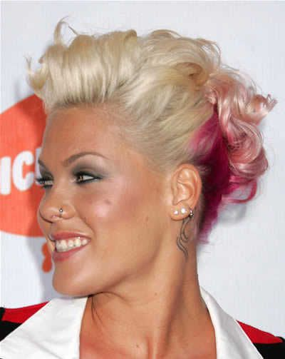 Image Detail For Pink S Short Pink And Blonde Pulled Back