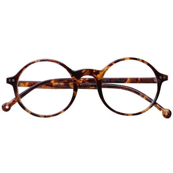 TIJN Unisex Vintage Retro Round Urltra-light Optical Eyeglasses Eyewear Frame found on Polyvore featuring polyvore, women's fashion, accessories, eyewear, eyeglasses, glasses, sunglasses, fillers, sport glasses and round eyeglasses