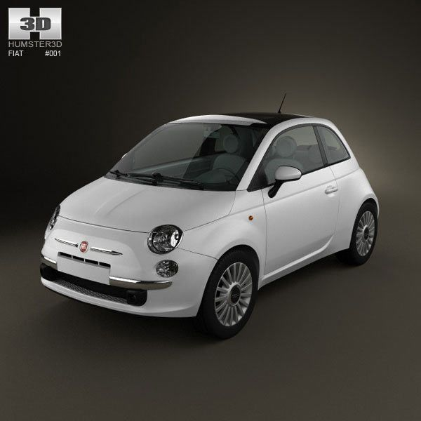 Fiat 500 2010 3d model from humster3d.com. Price: $75