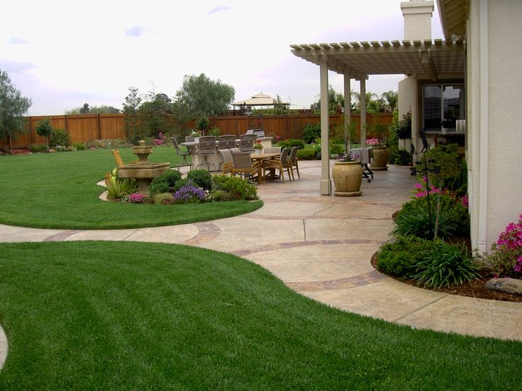25 best ideas about large backyard landscaping on for Front landscaping plans
