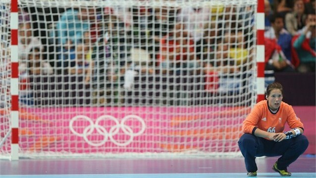 Sarah Hargreaves (GB) during the women's Handball preliminary