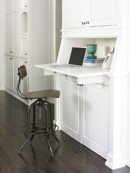 Amazing Mike Hammersmith, Inc.   Atlanta Custom Builder. Desk Area That Can Be  Hidden