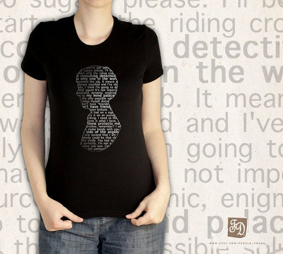 SHERLOCK quotes silhouette cameo t-shirt ( tank top )