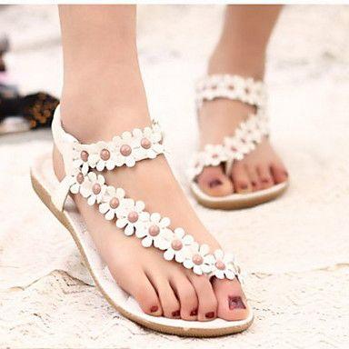 Aivini Vrouwen eenvoudige bloem platte sandalen - EUR € 8.24