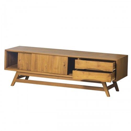 Kerinci   meja kabinet kayu jati dekor interior skandinavia rumah hotel tv console stand furniture design