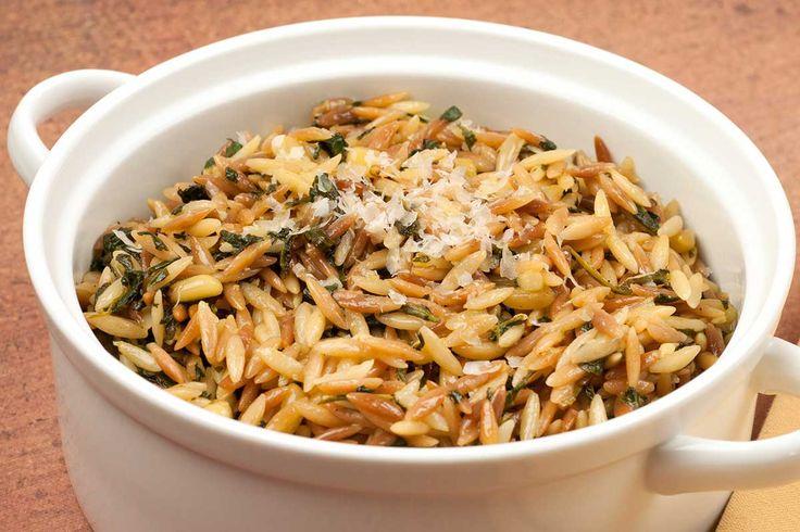 ... garlic, shallot, fresh spinach, pine nuts and Parmigiano-Reggiano
