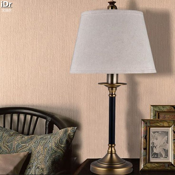 Cheap light bullet, Buy Quality light fog directly from China light blue votive candles Suppliers: 	 Simple American Copper Iron Bedside Bedroom Living Room Villa hotel lobby study linen Table light Rmy-0258