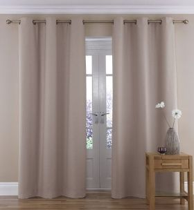 Soft Weave Eyelet Curtain, M&S