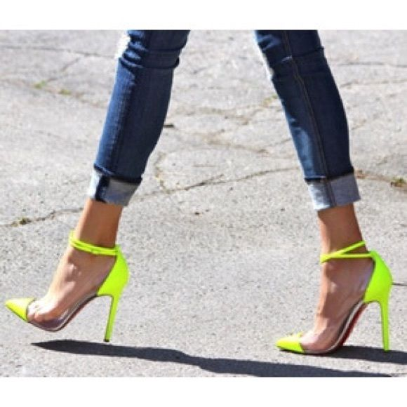 "Unbout Neon Pump ""In Love"" (NFS) Christian Louboutin Shoes Heels"
