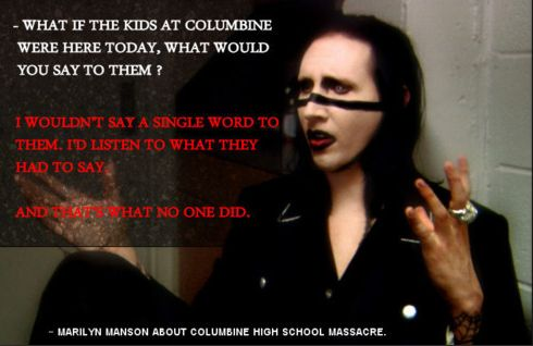 """""""I wouldn't say a single word to them, I would listen.."""" -Marilyn Manson [490x310]"""