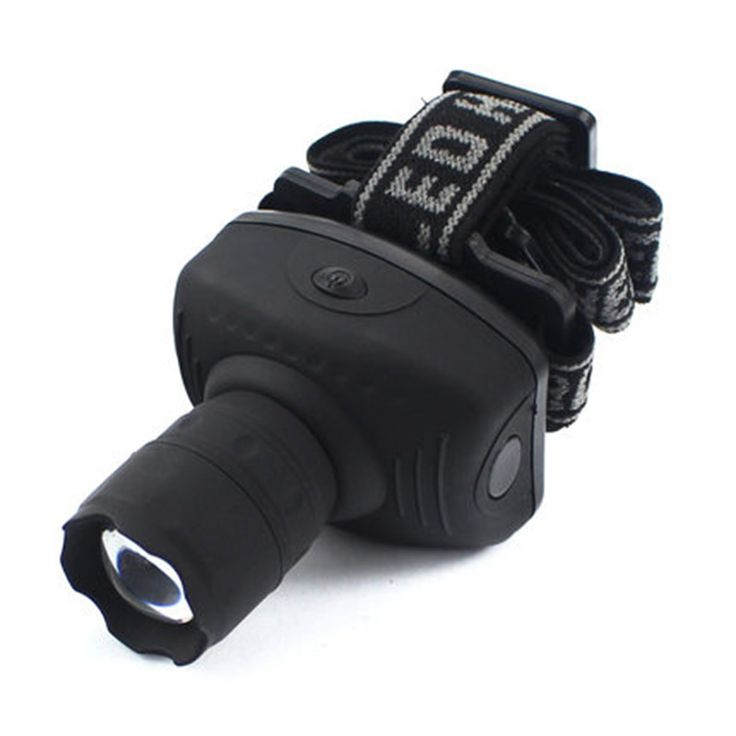 Hot Selling 3 Modes LED Headlamp Zoomable Head Torch Light Head Lamp Headlight Black Power By AAA Battery <3 Clicking on the image will lead you to find similar product