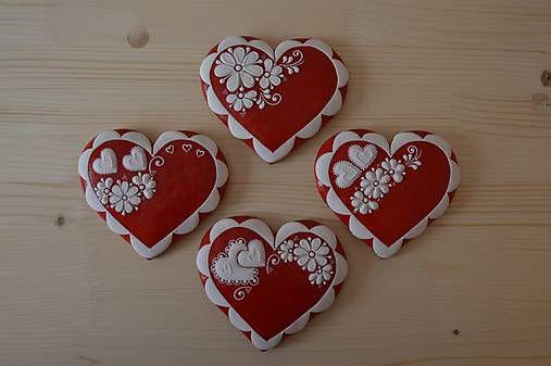 Valentínske, svadobné medovníčky