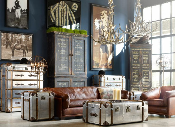 Living Room Vintage Industrial Style