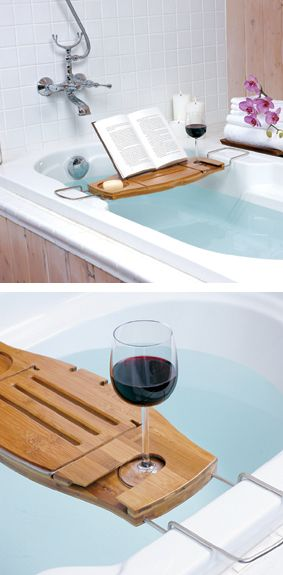 We love this aquala bath caddy! Perfect companion for long soaks in the tub!