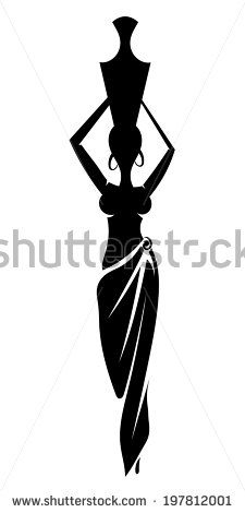 african woman silhouette tribal tattoo - Google Search