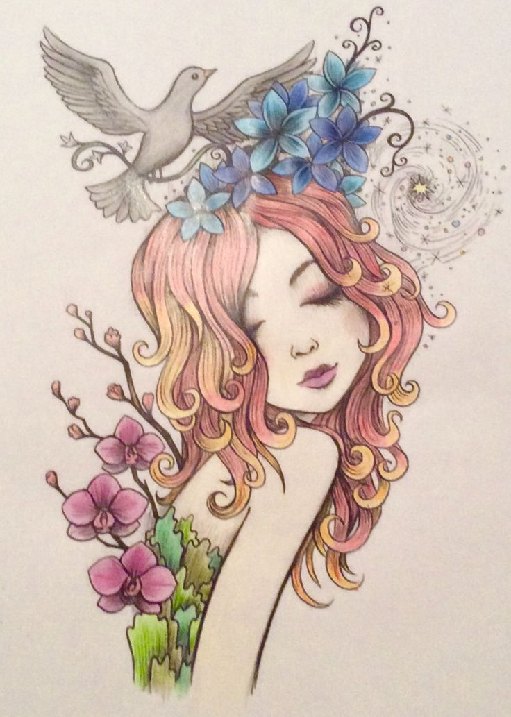 #cute #kawaii #art #flower #flowers #drawing #dove