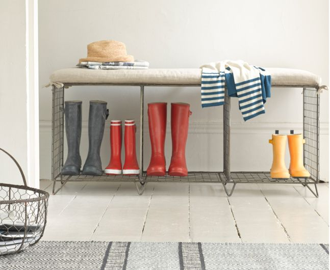 Whatsit | Wire Bench With Storage | Loaf