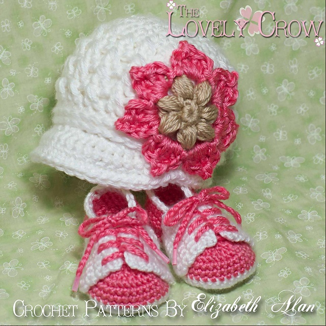 "Baby Booties and Hat ""Little Sport Set"" too cute"
