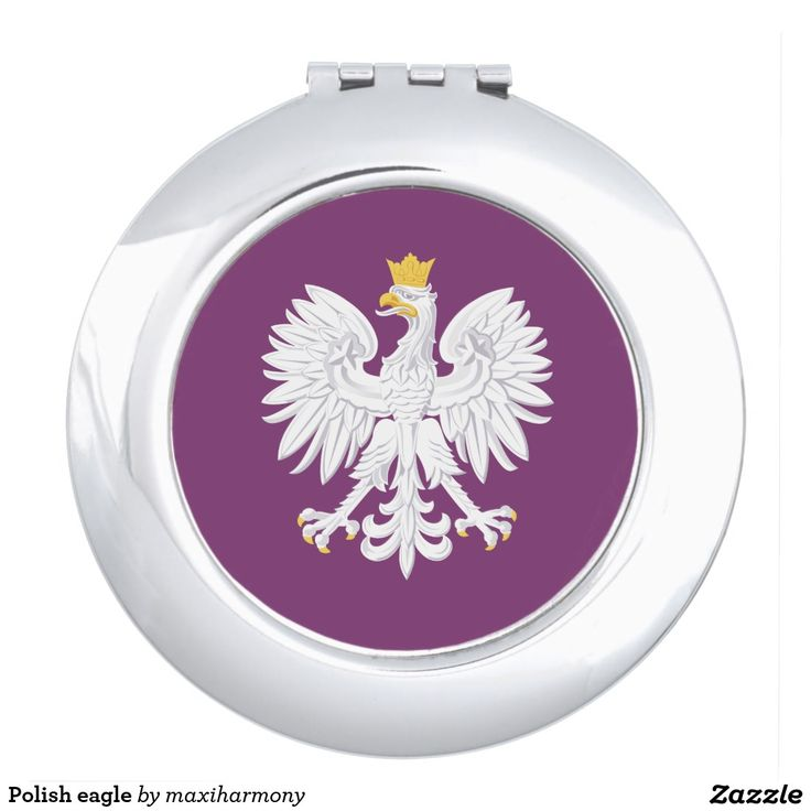 Polish eagle travel mirror