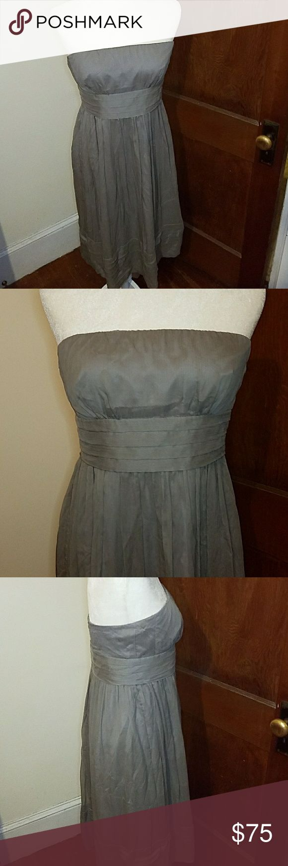 "J CREW gorgeous strapless formal tea lenghth dress In basically new condition, freshly dry cleaned. Would be perfect for a wedding, formal dance, or any other event you need to look beautiful and classy for. Bust is 15"" across and 35"" long. J. Crew Dresses"