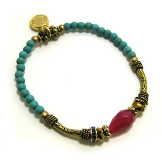 Tribal bracelet with turquoise