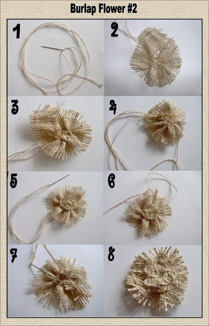 Today's Fabulous Finds: 3 Burlap Flower Tutorials